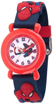 Marvel Spiderman Boys Blue Strap Watch-Wma000161