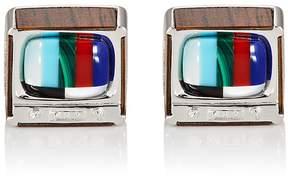 Jan Leslie Men's Retro TV Cufflinks