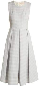 Brock Collection Dita sleeveless gingham-twill dress