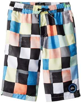 Quiksilver Resin Check Volley Shorts Boy's Swimwear