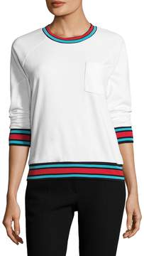 Cynthia Rowley Active Women's Varsity Trim Sweatshirt