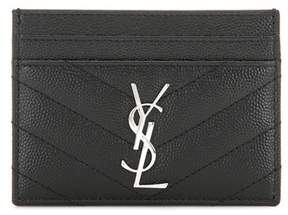 Saint Laurent Monogram quilted leather card holder - BLACK - STYLE