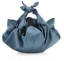 The Row Small Ascot Satin Hobo Bag