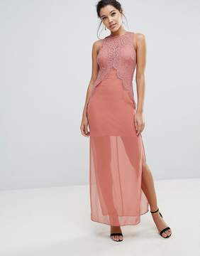 Keepsake Be The One Lace Detail Maxi Dress