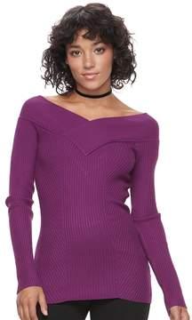 Candies Candie's Juniors' Candie's® Portrait Collar Sweater