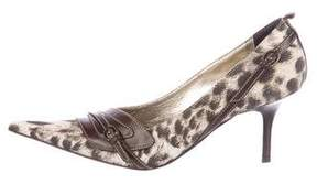 Just Cavalli Printed Pointed-Toe Pumps