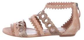 Alaia Suede Caged Sandals