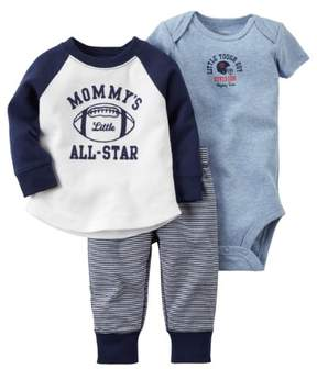 Carter's Baby Boys' 'Mommy's Little All-Star' 3 Pc Sets