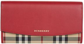 Burberry Porter Horseferry Check Leather Continental Wallet - RED - STYLE
