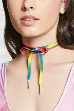 Forever 21 Ombre Shoelace Wrap Choker