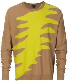 Just Cavalli colour weave sweatshirt