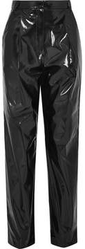 Tibi Vinyl Tapered Pants - Black