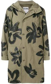 Moschino painterly floral parka