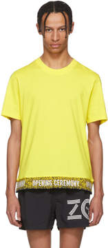 Opening Ceremony Yellow Limited Edition Elastic Logo T-Shirt