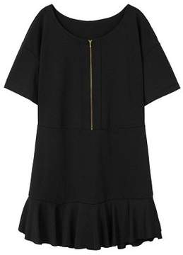 Violeta BY MANGO Fluted hem dress