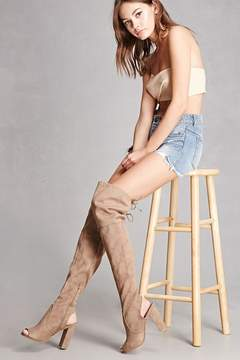 Forever 21 Faux Suede Thigh-High Boots