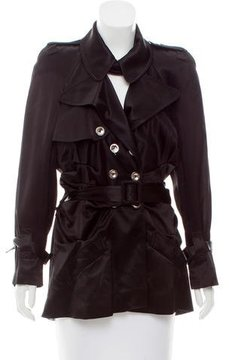 Christian Dior Ruched Trench Coat