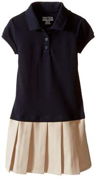 Nautica Pique Polo Pleated Dress Girl's Dress