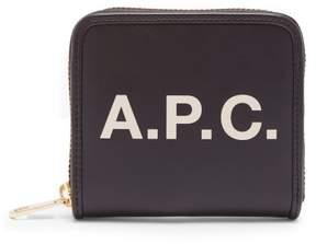 A.P.C. Morgane Logo Wallet - Womens - Black