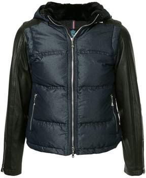 GUILD PRIME hooded contrast sleeve jacket