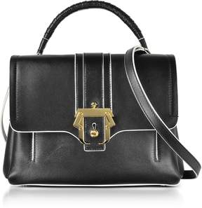 Paula Cademartori Black Leather Petite Faye Top Handle Satchel Bag
