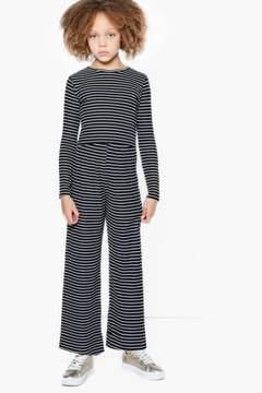 boohoo Girls Rib Long Sleeve Crop Top & Trouser Set