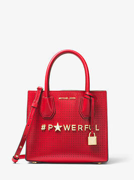 Michael Kors Mercer Powerful Perforated Leather Crossbody - RED - STYLE