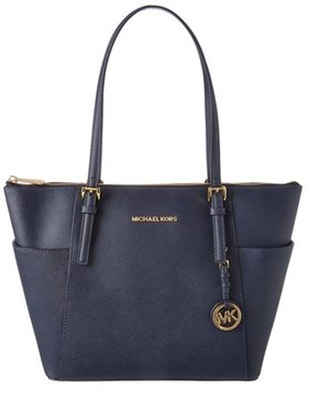 MICHAEL Michael Kors Jet Set Leather East/west Tote. - NAVY - STYLE