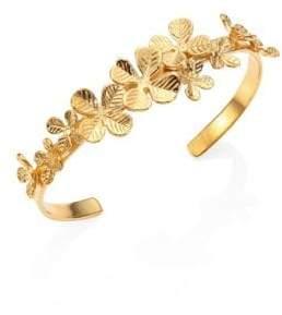 Aurelie Bidermann Tamar Clover Bangle Bracelet