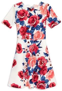 Aqua Girls' Floral A-Line Dress, Big Kid - 100% Exclusive