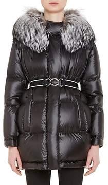 Prada Women's Fox-Fur-Trimmed Puffer Jacket