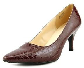 Karen Scott Clancy Women Pointed Toe Synthetic Burgundy Heels.
