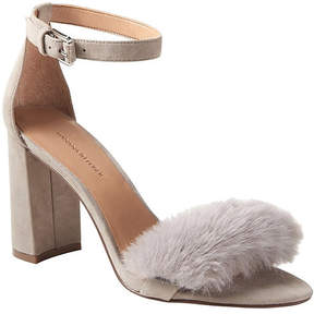 Banana Republic Bare High Block-Heel Faux Fur Sandal