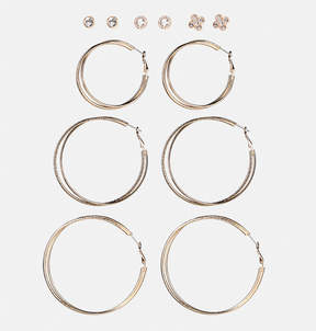 Avenue Textured Stone Earring Set