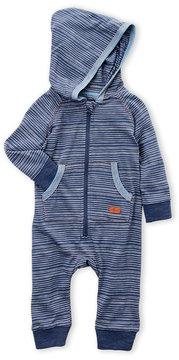 7 For All Mankind Newborn Boys) Hooded Stripe Romper