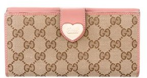 Gucci GG Heart Continental Wallet - BROWN - STYLE