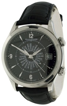 Jaeger-LeCoultre Jaeger LeCoultre Master Memovox 174.8.96 Stainless Steel & Leather 40mm Mens Watch