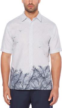 Cubavera Graphic Leaf Print Shirt