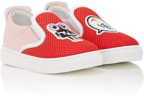 Fendi Toddler's Patch-Appliquéd Slip-On Sneakers