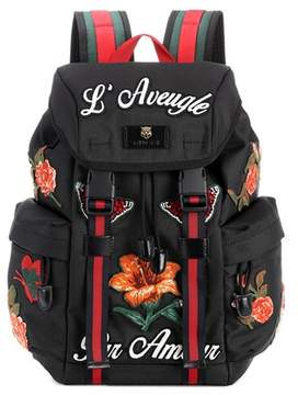 Gucci Appliquéd backpack - BLACK - STYLE