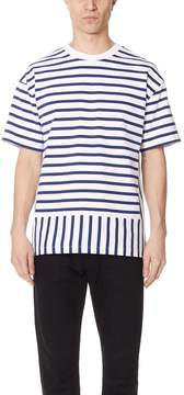 Public School Daryl Short Sleeve Striped Tee