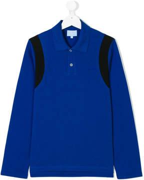 Lanvin Enfant Teen contrast-trim long sleeved polo shirt