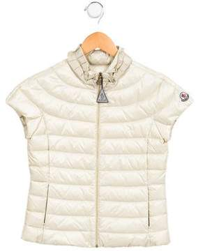 Moncler Girls' Sima Down Vest w/ Tags