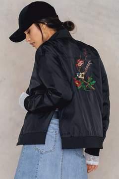 NA-KD Na Kd Embroidery Bomber Jacket