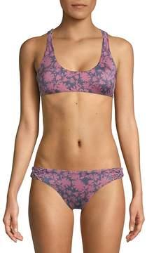 Dolce Vita Women's Macrame Floral Bikini Top