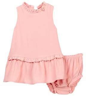 Kate Spade ruffle collar dress & bloomer set (Baby Girls)