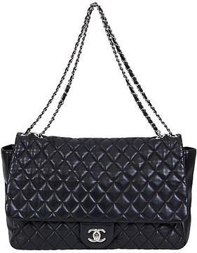 One Kings Lane Vintage Chanel Black Maxi Rain Jacket Flap Bag
