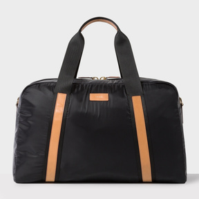 Paul Smith Men's Black Lightweight Holdall With Tan Leather Trims