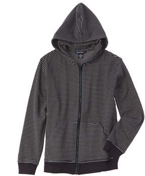 Brooks Brothers Boys' Knit Mini Stripe Waffle Hoodie