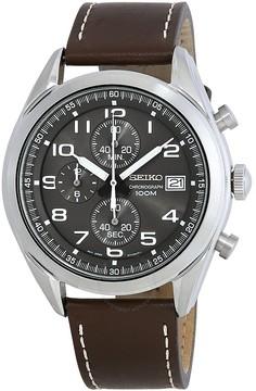 Seiko Chronograph Grey Dial Men's Watch
